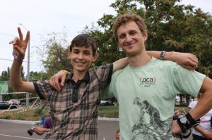 Яша и Ден - друзья слаломисты