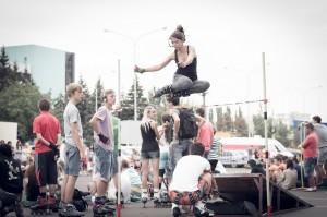 Наташа в прыжке
